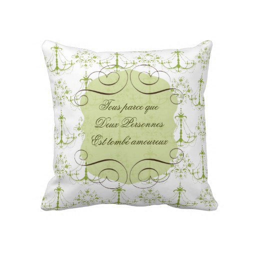Throw Pillow In French : Love Quote in French Throw Pillow from from Zazzle Pillows with