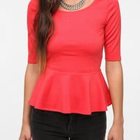 Pins and Needles Ponte Knit Peplum Top