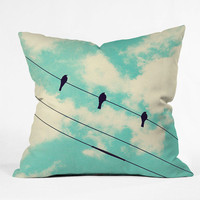 DENY Designs Home Accessories | Shannon Clark Three Little Birds Throw Pillow
