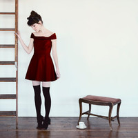 PREORDER Fall 2011The Catherine Dress MERLOT by alexandragrecco