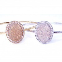 Shimmer Kori Bangle with Pave Trim - Kirakira Jewelry by Suzanne Somersall