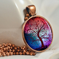 Wild Winter Tree Pendant, Resin Pendant, Picture Pendant, Photo Pendant, Resin Jewelry C119C