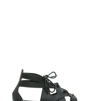 Curves Ahead Strappy Lace-Up Sandals