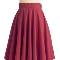 Effortless is More Skirt in Burgundy | Mod Retro Vintage Skirts | ModCloth.com