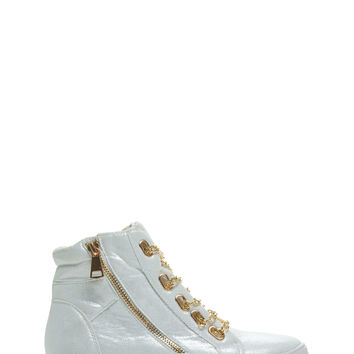 Glitter Bomb Chain Lace Sneakers