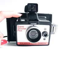 Vintage Polaroid Super Shooter Plus Camera -  1970s Polaroid Land Camera / Instant Development & Timer