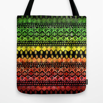 One Love Tribal {black} Tote Bag by Schatzi Brown