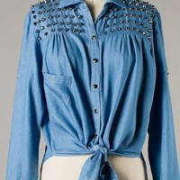Spiked Denim Top from Seek Vintage