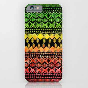 One Love Tribal {black} iPhone & iPod Case by Schatzi Brown