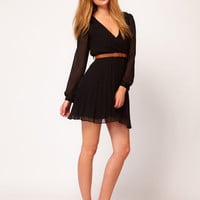 Rare Wrap Detail Dress With Belt at asos.com