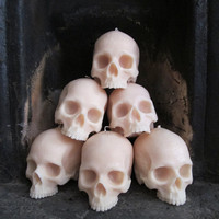 Life-size Skull Candle