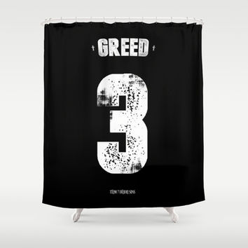 7 Deadly sins - Greed Shower Curtain by HappyMelvin