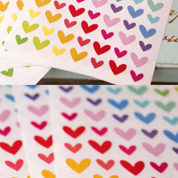 172 Hearts Colourful Stickers