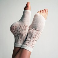 Crocheted Lover Slipper Socks