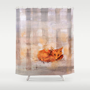 foggy day Shower Curtain by Marianna Tankelevich