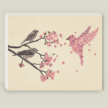 Blossom Bird Art Print by terryfan on BoomBoomPrints