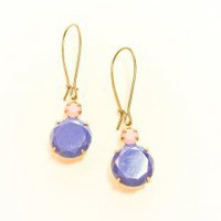 World Traveler Vintage Lapis Blue Glass Earrings