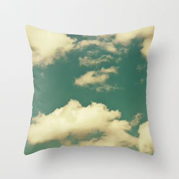 sky, clouds, dreams... Throw Pillow by VanessaGF