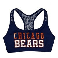 Chicago Bears Lace Yoga Bra