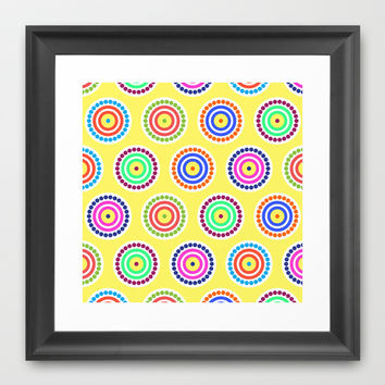 Bright Dots & Circles Framed Art Print by KJ53321