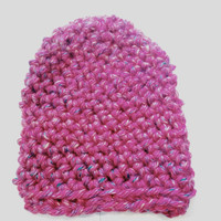 Candy Kisses Pink Beanie for Adults