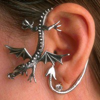 $159.00 Dragon Sentry Ear Wrap by martymagic on Etsy