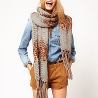 ASOS Mix Ribbon Knit Scarf at asos.com