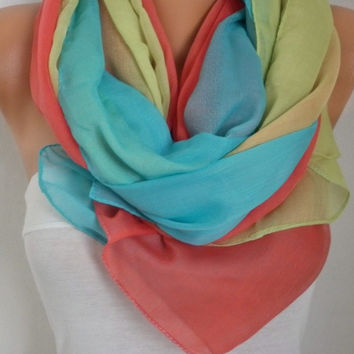 Spring Celebration Fashion Rainbow Scarf Easter Oversize Scarf Shawl Cotton Scarf Cowl Scarf Gift Ideas for Her Women Fashion Accessories