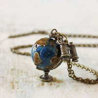 World Traveler Necklace, Women&#x27;s Bohemian Jewelry