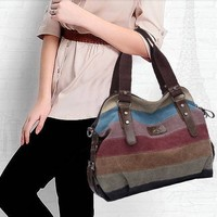 Fashion Messenger Bags Canvas Super patchwork canvas bag