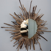 Sunburst Driftwood Mirror by Lynette67 on Etsy