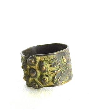 Ornate Byzantine Roman Copper Ring Traditional circa Ninth Century