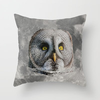MOON OWL Throw Pillow by Catspaws