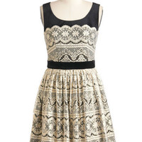 Each and Ivory Moment Dress | Mod Retro Vintage Dresses | ModCloth.com