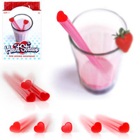 HEART SHAPED STRAWS