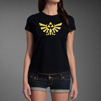 The Legend of Zelda Triforce Favorite Xbox Nintendo PS3 Video Game Fan T-shirt Girls Ladies Women's T-shirt Tee