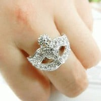 Opera Mask Fashion Ring  | LilyFair Jewelry