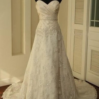 Vintage Lace Wedding Dress A LINE B.. on Luulla