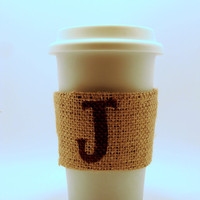 Burlap Coffee Cozy by BreakfastNook on Etsy $4.50