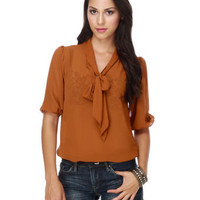Notions of Nutmeg Burnt Orange Top $33.00