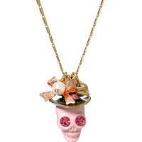 PINK SKULL PENDANT NECKLACE - Betsey Johnson