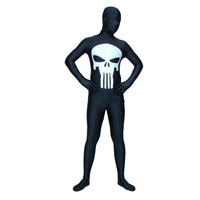 Punisher Black Lycra Spandex Fancy Dress for Halloween Costume Skull Fullbody Zentai Suit [TOQ1112270451] - 23.39 : Zentai, Sexy Lingerie, Zentai Suit, Chemise