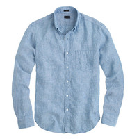 J.Crew Mens Tall Délavé Irish Linen Shirt