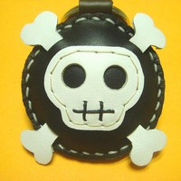 Ashbren The Skull Leather Charm ( B.. on Luulla
