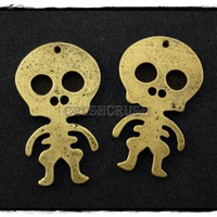 6pcs Antique Brass Baby Skeleton S.. on Luulla
