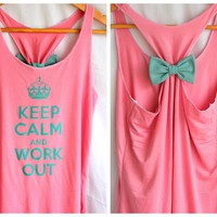 Keep Calm And Work Out Tank - Large on Luulla