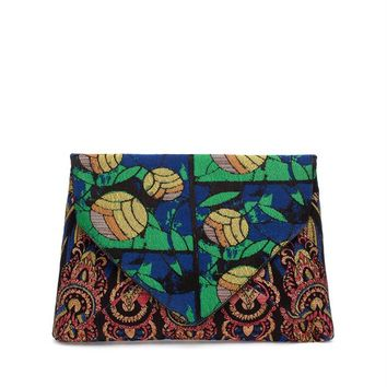Patterned Envelope Clutch - DRIES VAN NOTEN