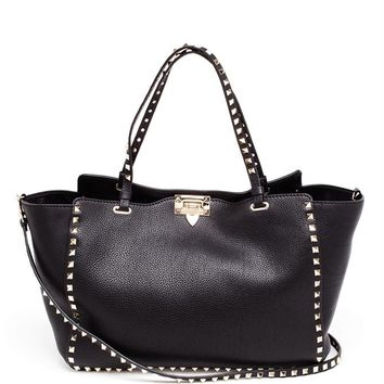 Rockstud Large Leather Tote - VALENTINO