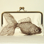 $69.00 Goldfish  Turtle  Kisslock  Clutch Purse  by kyooziAccessories