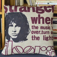Jim Morrison Print Decorative Pillow [010] : Cozyhere